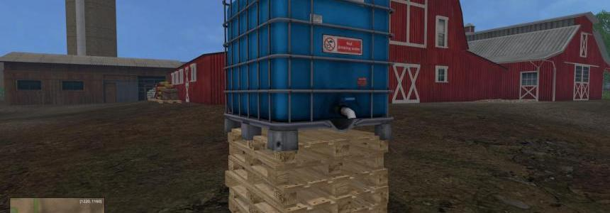 Placeable IBC tank with water trigger