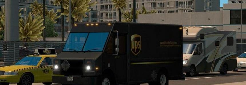 Real FedEx and UPS package van skins
