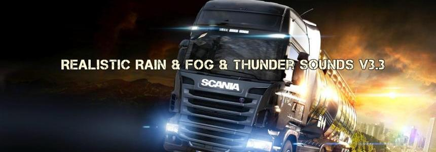 Realistic Rain & Fog & Thunder Sounds v3.3