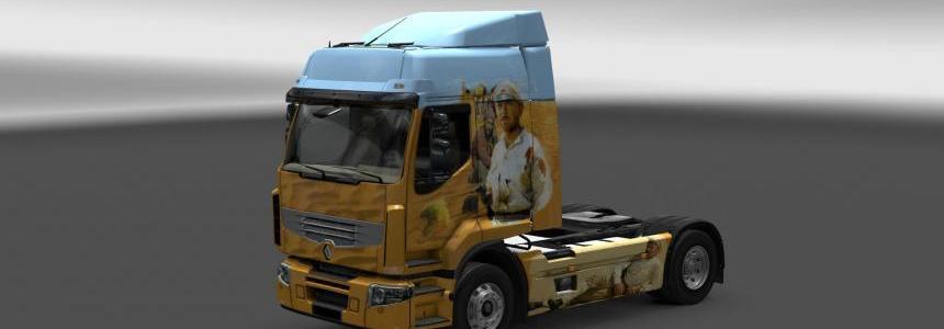Renault Premium White sun of desert Skin