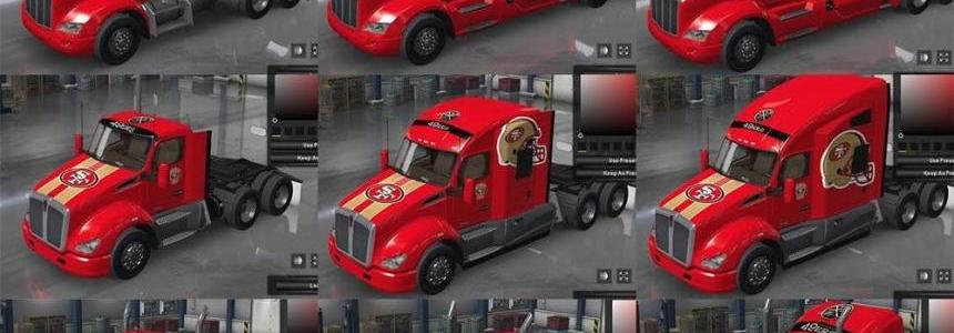 San Francisco 49ers NFL team skins v1