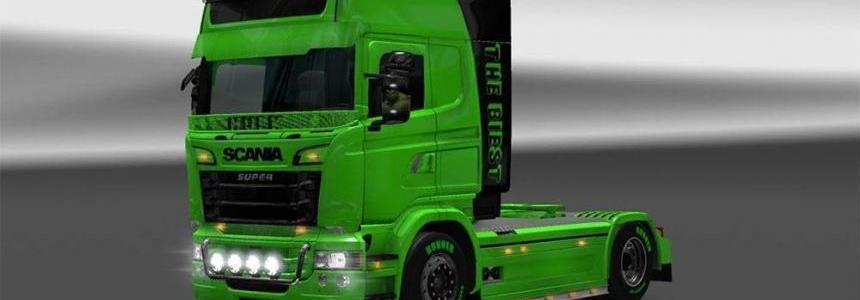 Scania RJL v1.5 HULK Skin