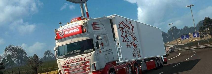Scania Truck and Chereau Trailer + Accessory