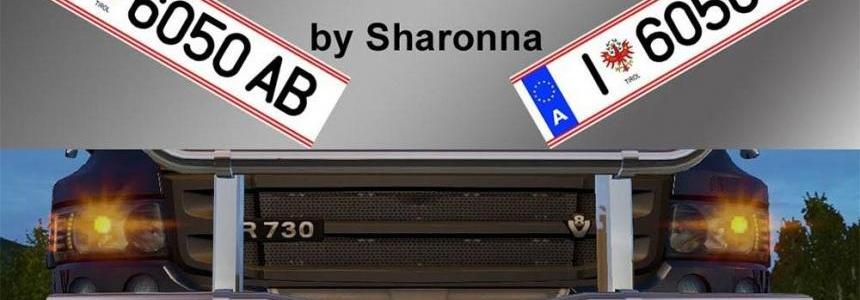 Sharonna's Real Innsbruck Licence Plates