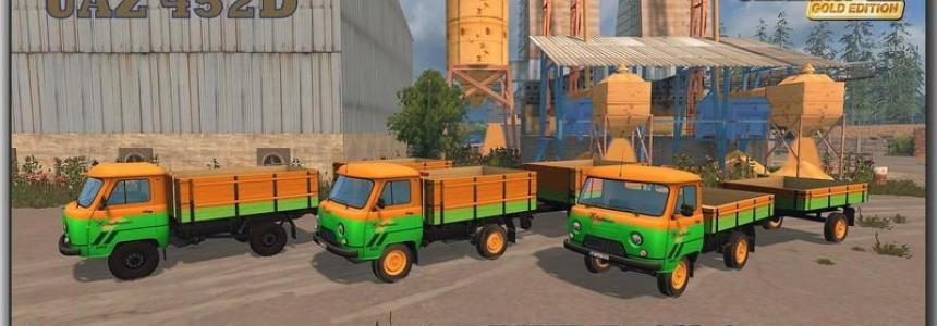 UAZ 452D RWZ Raiffeisen Transport Set v1.0