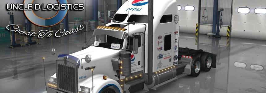 Uncle D Logistics Pepsi Kenworth W900 Skin
