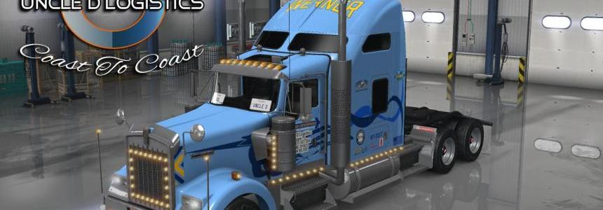 Uncle D Logistics Werner Trucking Kenworth W900 Skin