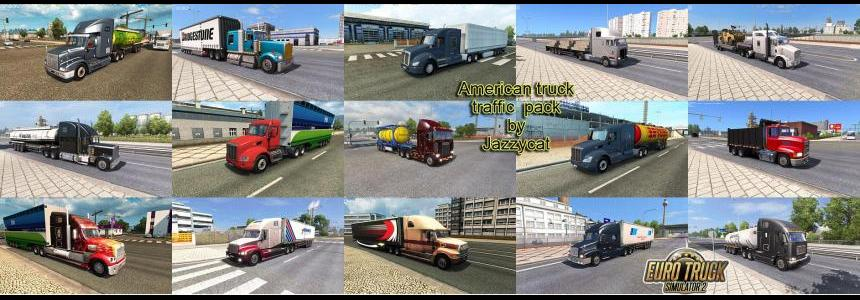 American Truck Traffic Pack by Jazzycat  v1.3