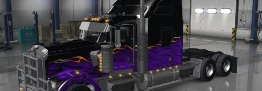 Dark Night paintjob for Kenworth W900 truck