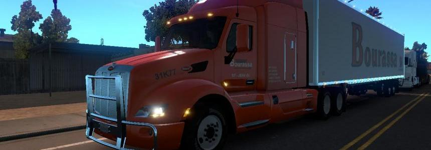 DC-Bourassa P579 + Trailer Skin Pack for ATS v1