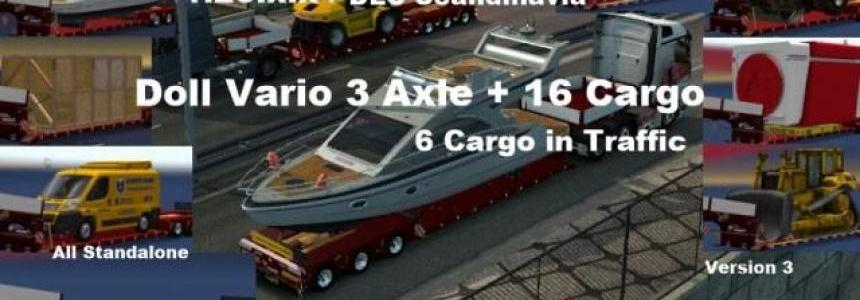 Doll Vario 3 axle Trailer with new backlight and in Traffic v3.0