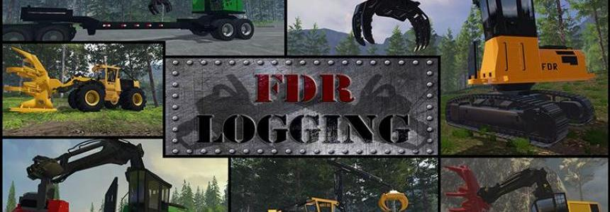 FDR Logging Machine Pack + Bonus Northwest Logging Map