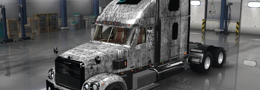 Freightliner Coronado Grunge Metal Skin