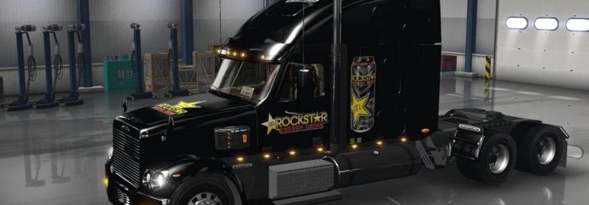 Freightliner Coronado Rockstar Energy Drink Skin