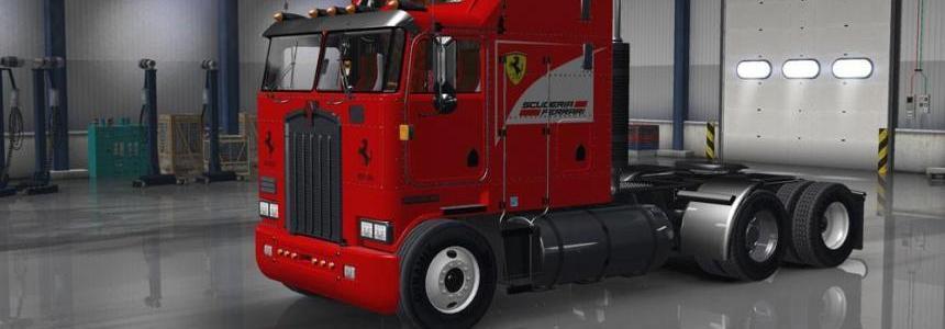 Kenworth K100 Aerodyne Scuderia Ferrari Skin