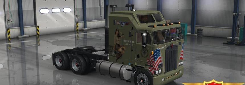 Kenworth K100 Military Girls Skin