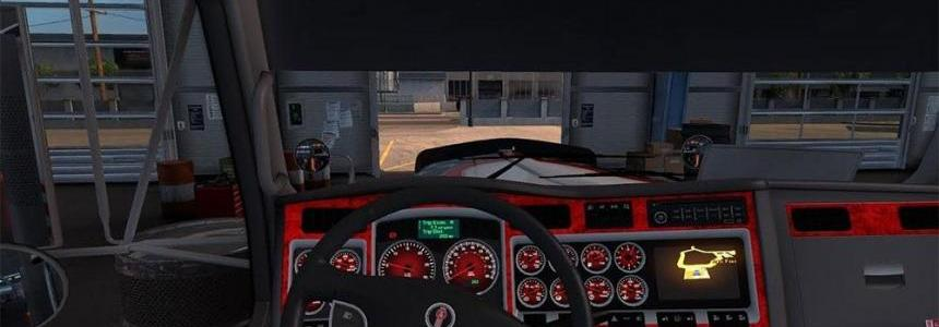 Kenworth w900 Dashboard red