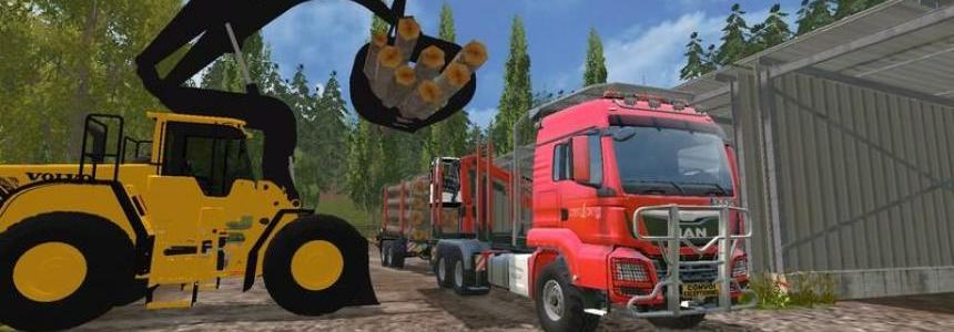 MAN TGS 33.440 Forestry Truck & Trailers v0.7 WIP