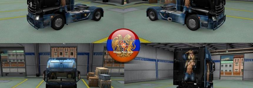 Mercedes Actros MP4 Girl Skin