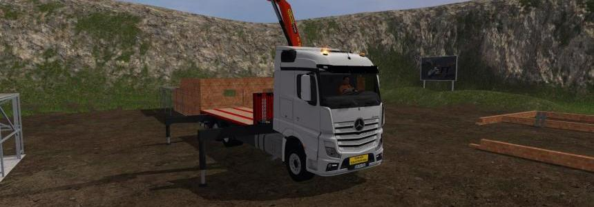 Mercedes-Benz Actros MP4 plateau v1.0