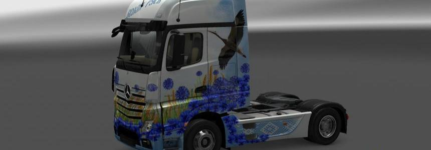 Mersedes Actros MP4 White Russia Skin
