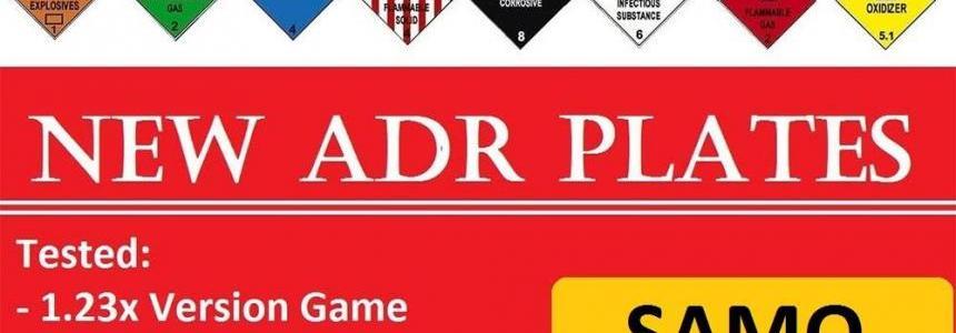 NEW ADR Plates