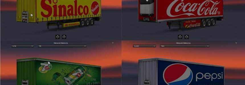 Pepsi, Coca-Cola, Sinalco & 7up Trailers Pack By Gile004