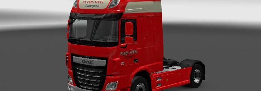Peter appel daf xf euro 6 + earodynamic standalone trailer