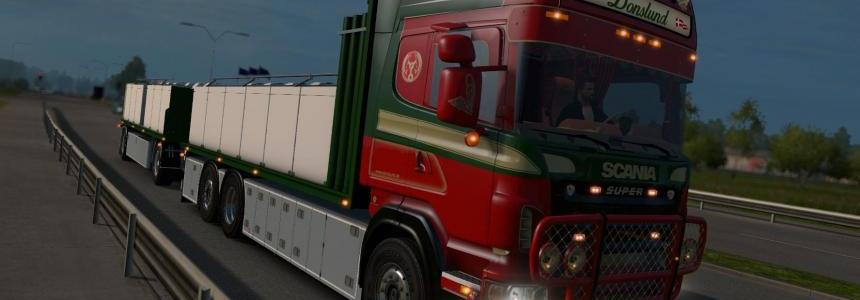 Scania R560 Donslund with trailer 1.23