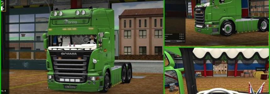 Scania R620 Bring + DLC Cabin v2.6
