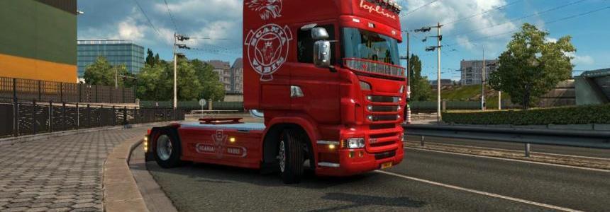 Scania RJL Vabis skin 1.23