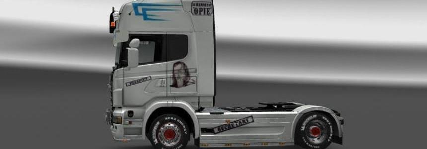 Scania white Sons of Anarchy v1.23