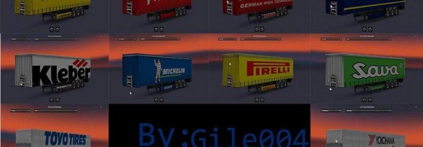 Tire Skin Trailers Pack By Gile004