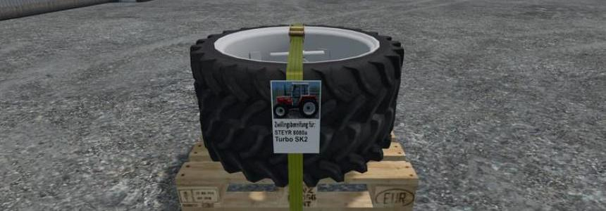 Twin tires for 4cylinder Steyr SK2 v1.0