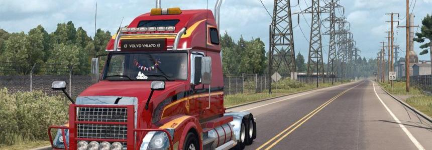 Volvo VNL 670 v1.4 by Aradeth (Only for ATS 1.2)