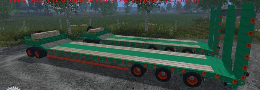Aguas Tenias Low Loader Fifth Wheel v1.0