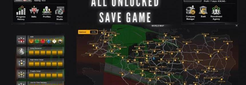All Unlocked Save Game 1.2x