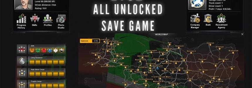 All Unlocked Save Game for 1.2x
