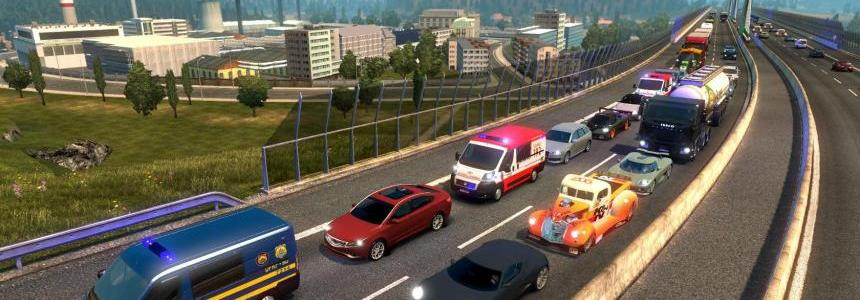 Great mod on Traffic! ETS2 v1.24 beta
