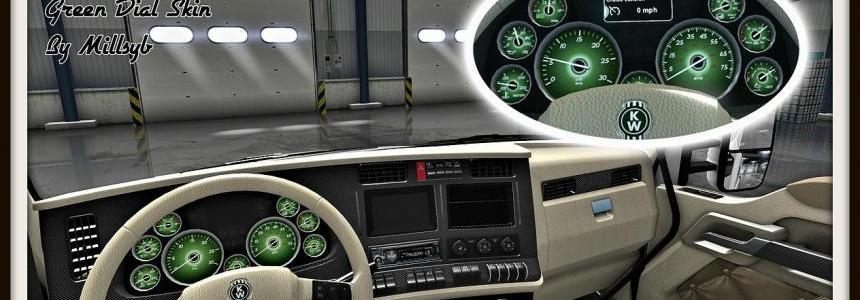 Kenworth T680 Interior & Green Dial Skin