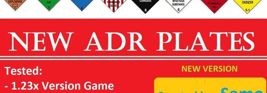 New ADR Plates V1.23 1.23