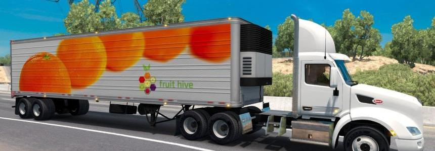 Oranges reefer trailer