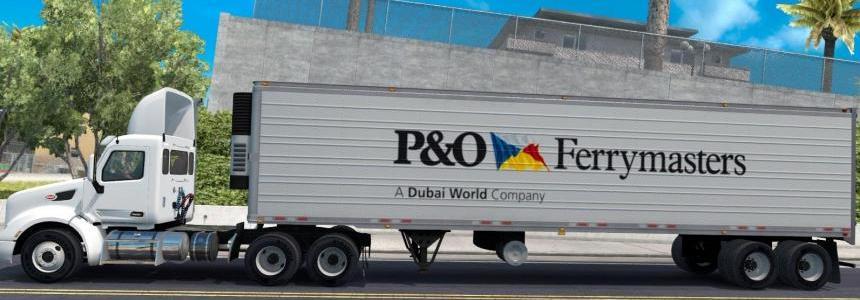 P&O Ferrymasters trailer