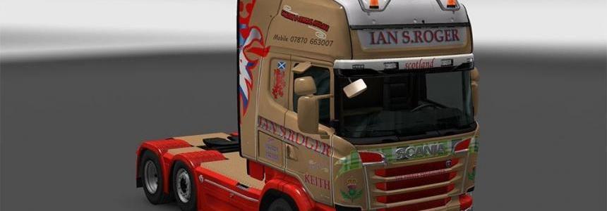 Scania R &S Topline Ian S.Roger skin 1.23