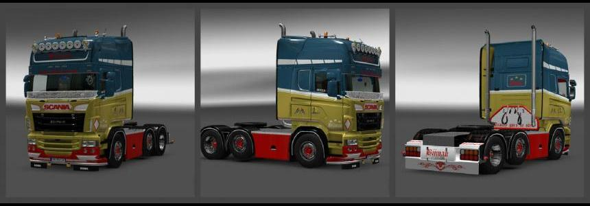 Scania RJL Bijman Holland Skin 1.23