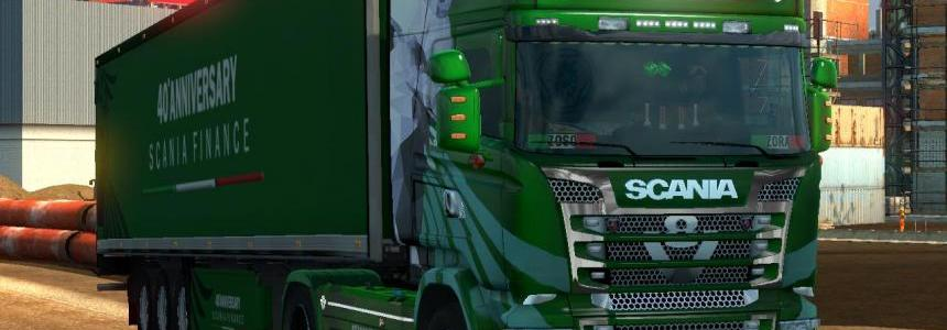 Scania RJL Emerald 40 Anniversary Scania Finance Skin