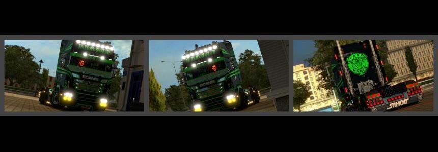 Scania RJL Green Rider Skin 1.23