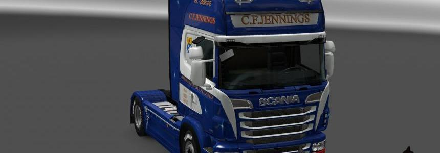 Scania R&S Topline C.F.Jennings skin 1.23