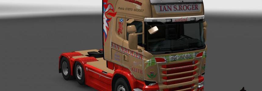 Scania R&S Topline Ian S.Roger skin 1.23
