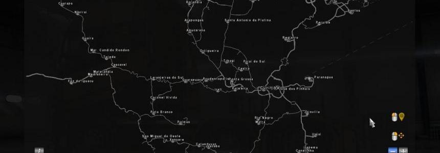 South America map for ATS Update v1.2